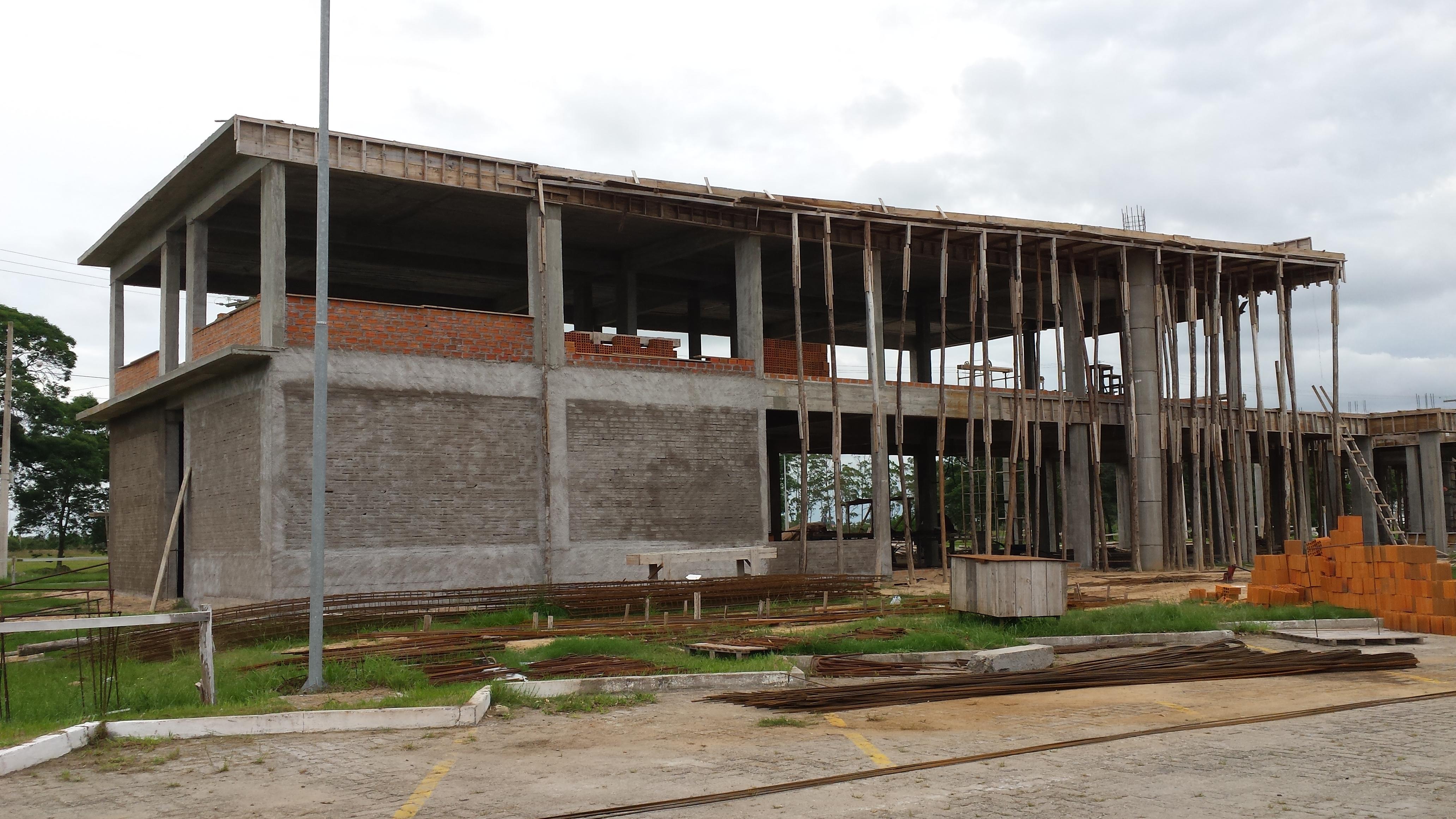 Novo prédio do ILA em construção.